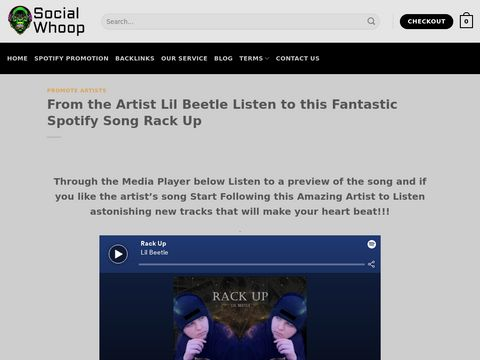 From the Artist Lil Beetle Listen to this Fantastic Spotify Song Rack Up
