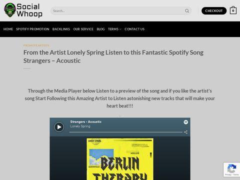 From the Artist Lonely Spring Listen to this Fantastic Spotify Song Strangers
