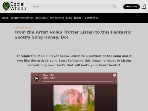From the Artist Nolan Trotter Listen to this Fantastic Spotify Song Honey, Do!