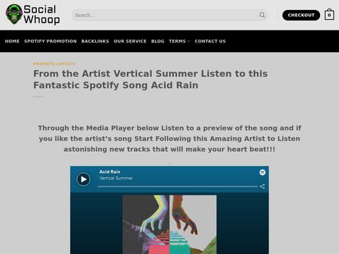 From the Artist Vertical Summer Listen to this Fantastic Spotify Song Acid Rain