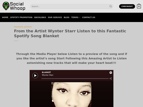 From the Artist Wynter Starr Listen to this Fantastic Spotify Song Blanket