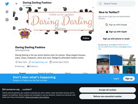 Daring Darling is the top online fashion store for women. Shop elegant dresses, jeans, shoes, bodysuits, skirts and more. Budget