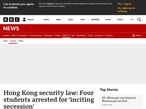Hong Kong students arrested under national security law