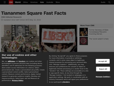 Tiananmen Square Fast Facts