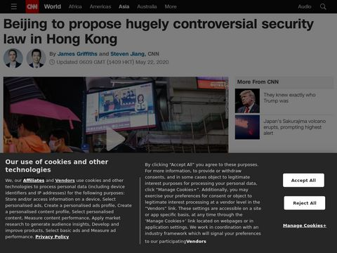Beijing to propose hugely controversial security law in Hong Kong