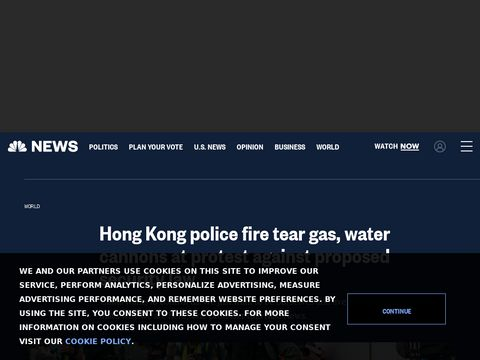 Hong Kong police fire tear gas, water cannons at protest against proposed security law