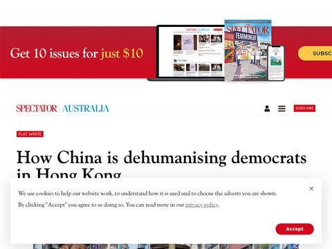 How China is dehumanising democrats in Hong Kong