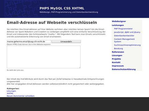 Email-Adresse auf Webseite verschlüsseln