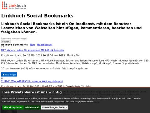 Linkbuch Social Bookmarks