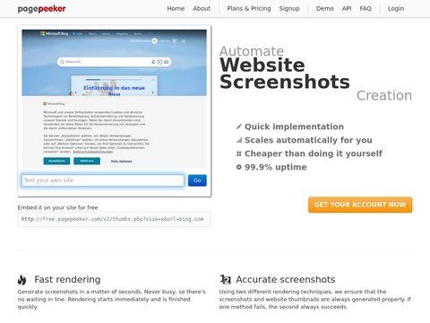 Website-Miniaturansichten und Website-Screenshots