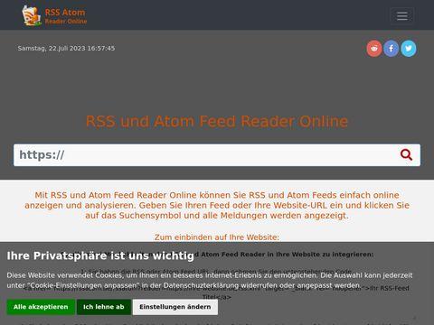 RSS und Atom Feed Reader Online