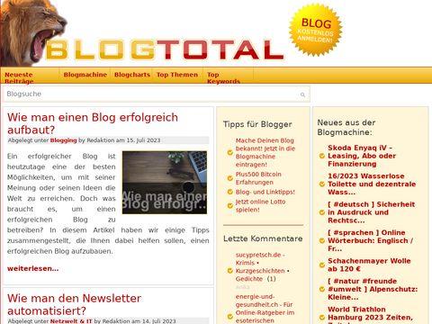 Blogverzeichnis, Statistiken und News » Blogtotal