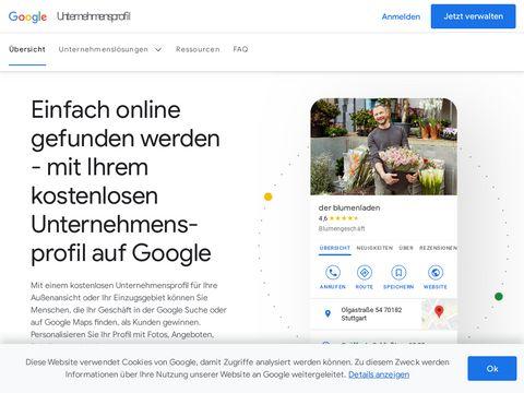 Kostenlose Website für dein Unternehmen – Google My Business