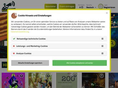 Screenshot der Seite http://www.kultur.bz.it/